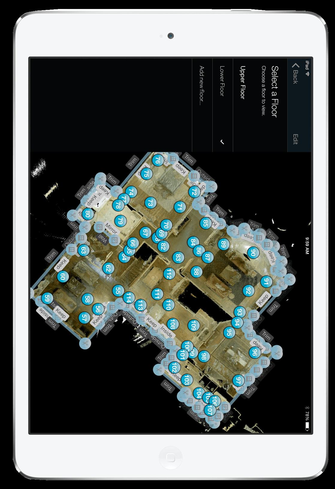 3D Punktwolke für Architekten