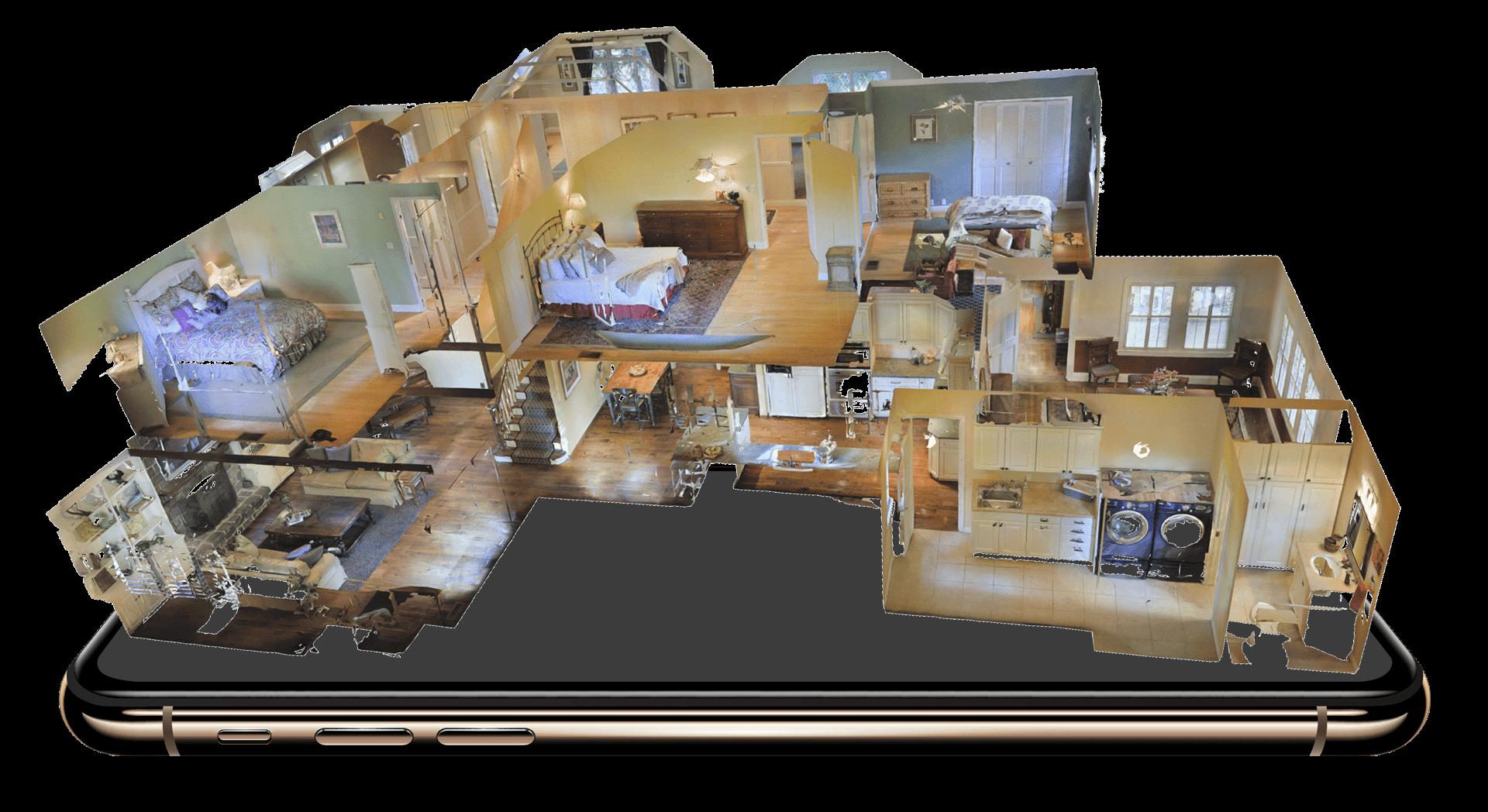 3D Rundgang Modell am Handy