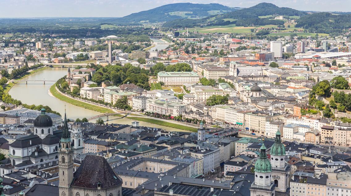 Salzburg 360 grad view